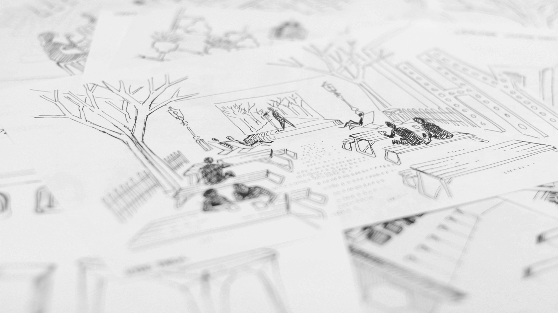 LIQUI - BRIEF AND INITIAL DESIGNS - Hyde-Park-sketch of a Liqui design for London Coffee Festival