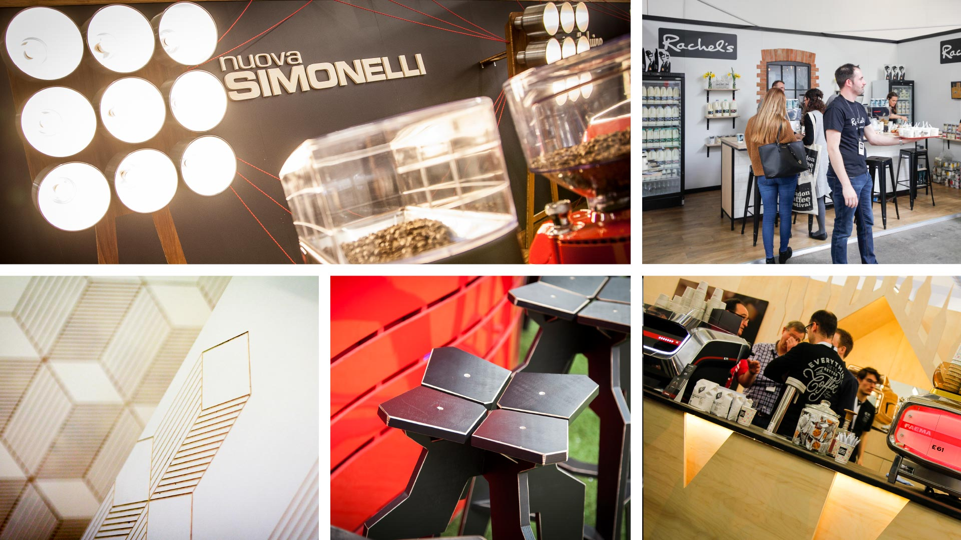 Liqui Exhibition Stand Design - exhibition-stands-v2 - Photo montage of London Coffee Festival stand designs by Liqui.