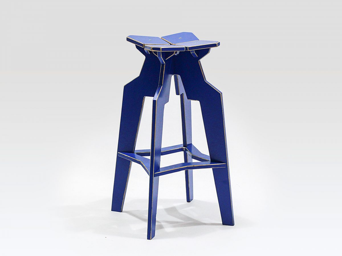 Liqui Contract Splice Bar Stool in sustainably sourced Birch ply.