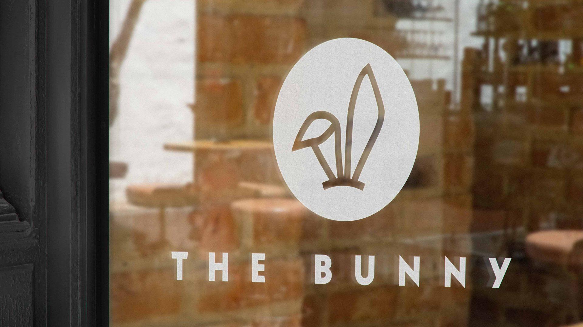 Crate47 Branding forThe Bunny bubble Tea shop – front window signage